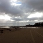 Llansteffan Beach by Patricia Lester