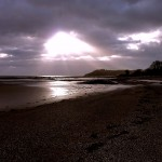 Llansteffan beach light by Patricia Lester
