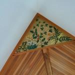 Hand painted corner panel
