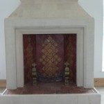 Fireplace in the music room
