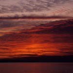 Fire Ruby Welsh sunset