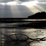 Llansteffan beach light by Patricia Lester